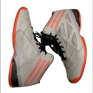 Adidas gray red black basketball shoes
